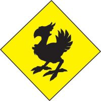 Chocobo Crossing road sign by mastergohan