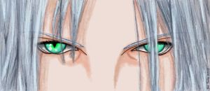 Eyes of the One Winged Angel by DJesterS