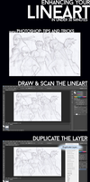 Easy Sketch/Lineart Enhancement Tutorial by CustomWeapon