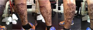 Sonic Sleeve Outlines by hulfie