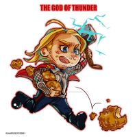 Fried chicken/Thor by JaneDoemmmmm