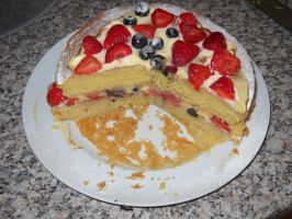My mother's cake, sliced by Bisected8