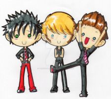 SuperDeformed GreenDay by PrincessBlackRabbit