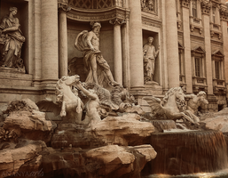 Trevi Fountain, Rome by AnanyaArts