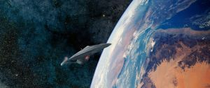 Enterprise E in Earth Orbit by Robby-Robert