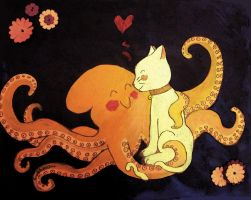 The Octopus and the Kitty Cat by eruanna