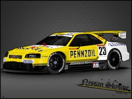 Pennzoil Nismo GT-R R34 by noxels