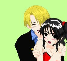 Sanji x Belle Used Base by Valy-Chan