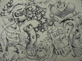 tattoo flash by GrizzlyGreenEyes