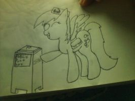Depry and the Tadis Drop box (Drawponies style) by Duns94
