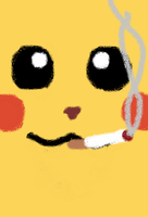 Pikachu Smoking by maywolfe