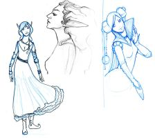 Sketches: Fantasy Women by JessicaDru