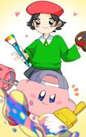 :kirby and Adeleine: by HISURY
