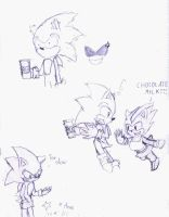 Sofi and Sonic: chocolate milk by mikusia27