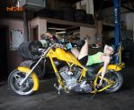 lisa, flaming yellow chopper by bullsnook