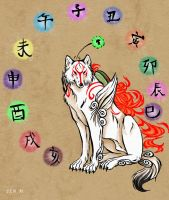okami and the 12 zodiac signs by mangakasan