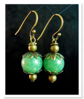 Antique Brass and Green Apples by Llyzabeth