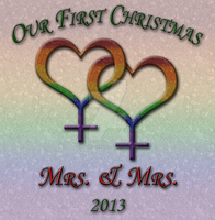 Our First Christmas Lesbian Pride by lovemystarfire