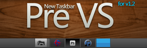 Pre Black VS 1.2 new taskbar by vi20RickrMetal12us