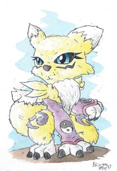 Renamon Chibi by monkeypoke