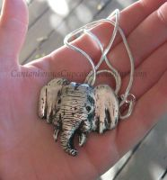 Elephant Pendant - commission by CantankerousCupcake
