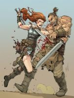 Red Sonja Colors by Max-Dunbar
