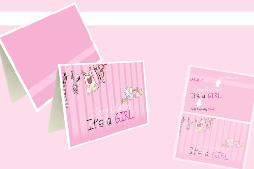 Baby girl card by tokosebelah