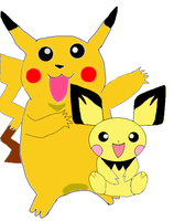 Pikachu and Pichu Drawing by charmanderfan7