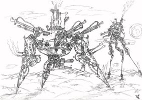Unequal duel of tripods by 452a