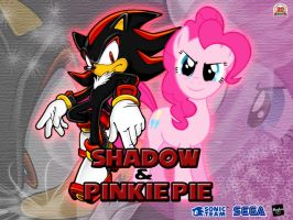 Wallpaper Shadow the Hedgehog and Pinkie Pie by LightDegel