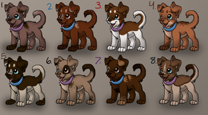 Puppy Adoptables4 - CLOSED by Subberz