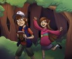 Meet you down at Gravity Falls by wallabri