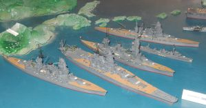 WWII IJN Battleships and HIJMS Shikinami by rlkitterman