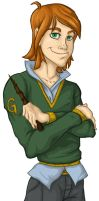 Smug George Weasley by ph00