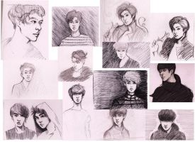 Exo Skteches by Cattkins
