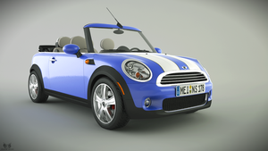 Mini Convertible front by Wikingerstn