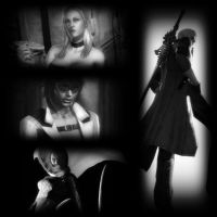 Dante and Girls by DarkMagicianQueen