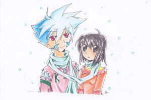 Winter couple by eitho