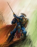 Ultramarines 2nd Company Captain Cato Sicarius by Aldin