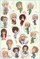 Hetalia chibis part 1 by RockNyx