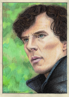Sherlock Portrait - 'Pondering' by Trilly21