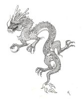 chinese dragon tattoo by Sonen