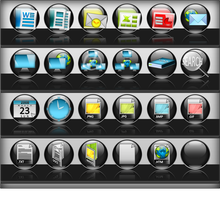 Black Rainbow Dock Icons by vista-man