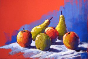 Apples and pears (soft pastel) by PatrickHENRY