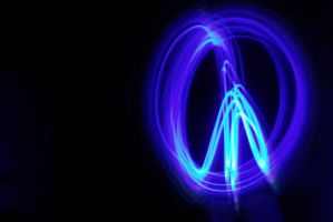 Lightpainting - Peace by Zeiphex