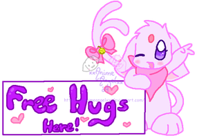 Espeon - Free Hugs Here by Espyfluff