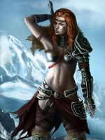 Female Iced Barbarian XnotXmineX by Barbarian-Court