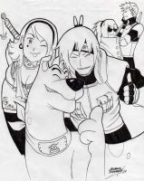 konoha Scooby gang by AtariBetch