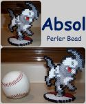 Collab With MaypleLeaf-Absol PC Sprite Perler Bead by Destiny-The-Hedgimon
