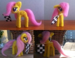 Filly Fluttershy needle felted #3 by Holcifio